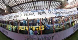 Striscione di Curva Nord 69 Milano