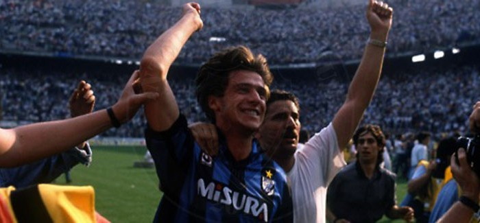 Inter-Brescia, 19/02/1995 – Berti i uron mireseardhjen Morattit.