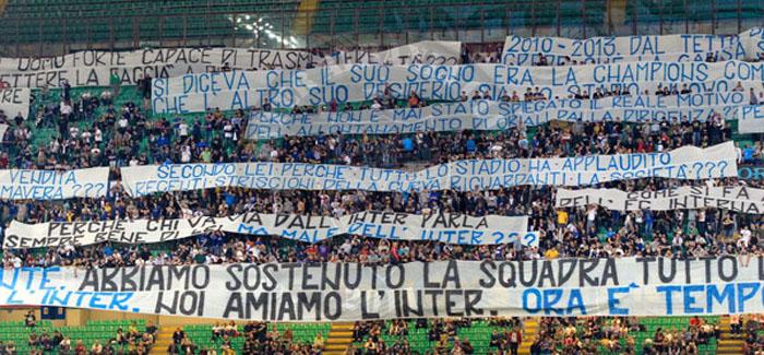 Inter, Vucinic-Guarin: Curva Nord e gatshme per nje proteste te pa precedente.