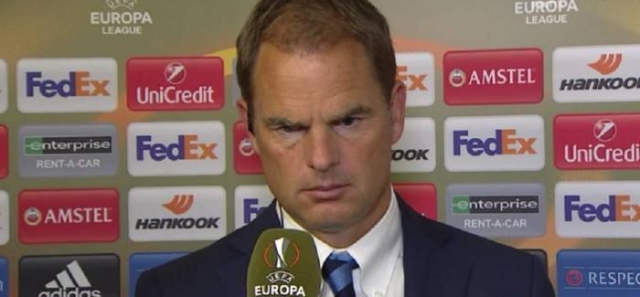 """De Boer skuadres: """"Nese fundosem une, eshte deshtimi i te gjitheve"""". Ndaj Southampton…"""