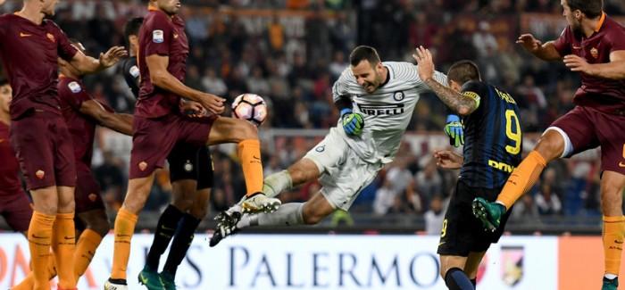 NOTAT e Roma-Inter: Handanovic super, Banega ndricon, mbrojtja loder. Salah vallezon me Santon…
