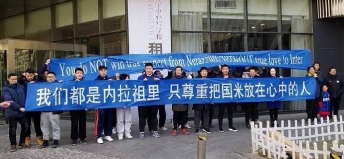 E FUNDIT – Proteste e tifozeve Kinez te Interit poshte selise se Suning