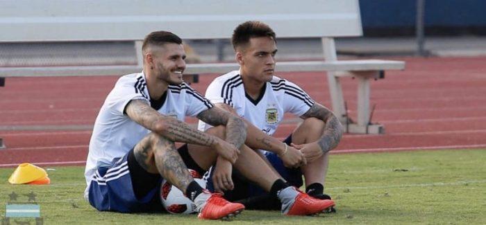 Clarin – Argjentina, vetem njeri nga dy lojtaret e Interit ne fushe nga minuta e pare ndaj Irakut