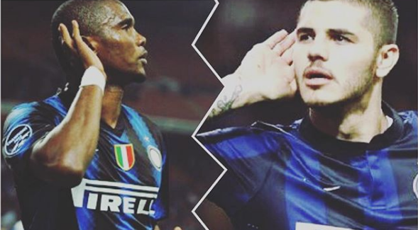 "Samuel Eto'o therret Icardin: ""Vamos Inter""."