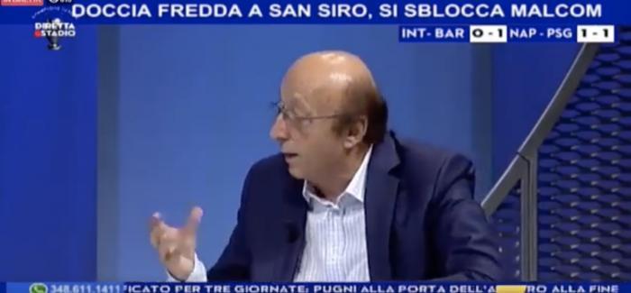 """VIDEO – Luciano Moggi bllof ne transmetim live per Icardin: """"Ai nuk di te shenoje"""", por vetem pak…"""